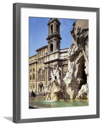 Piazza Navona, Rome, Lazio, Italy-Peter Scholey-Framed Art Print
