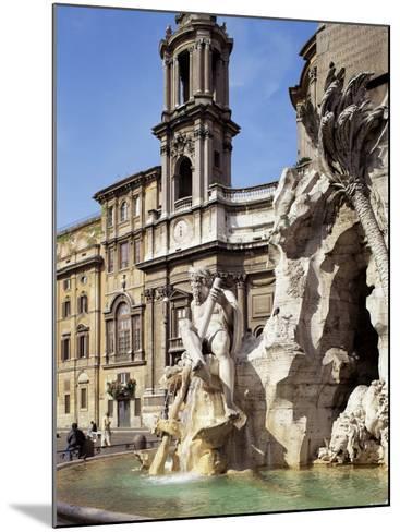 Piazza Navona, Rome, Lazio, Italy-Peter Scholey-Mounted Photographic Print