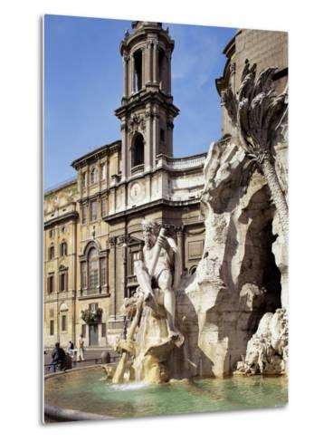 Piazza Navona, Rome, Lazio, Italy-Peter Scholey-Metal Print