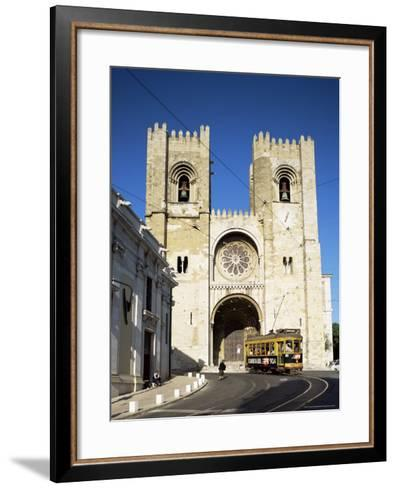 The Romanesque Style Se (Cathedral), Lisbon, Portugal-Peter Scholey-Framed Art Print