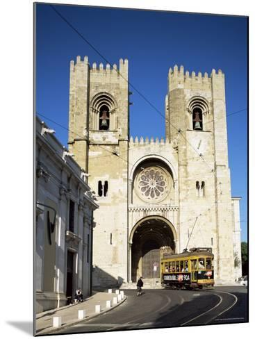 The Romanesque Style Se (Cathedral), Lisbon, Portugal-Peter Scholey-Mounted Photographic Print