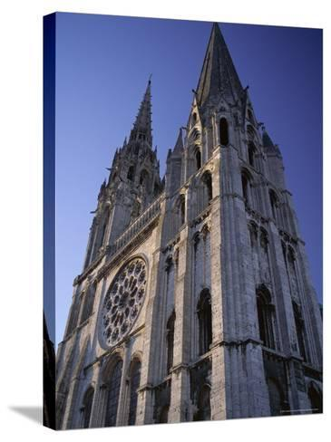 The Exterior of the Christian Cathedral, Chartres, Eure Et Loir, Centre, France-Jonathan Hodson-Stretched Canvas Print