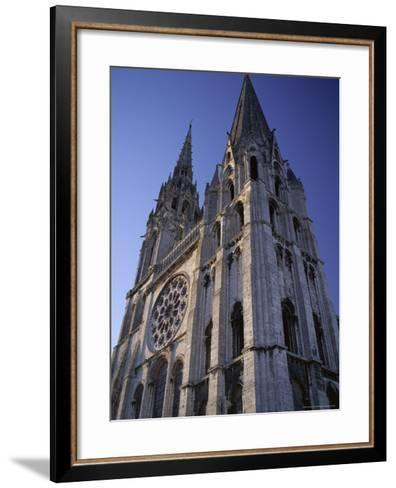The Exterior of the Christian Cathedral, Chartres, Eure Et Loir, Centre, France-Jonathan Hodson-Framed Art Print