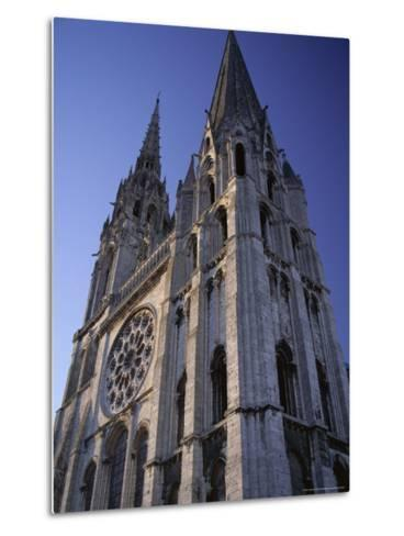 The Exterior of the Christian Cathedral, Chartres, Eure Et Loir, Centre, France-Jonathan Hodson-Metal Print