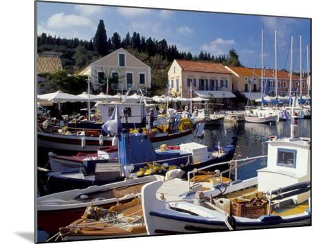 Boats in Fiscardo Harbour, Cephalonia (Kefallinia), Ionian Islands, Greece-Jonathan Hodson-Mounted Photographic Print