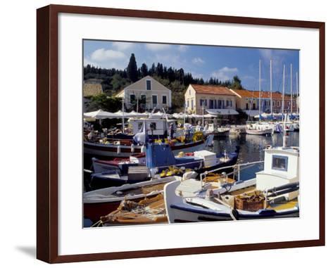 Boats in Fiscardo Harbour, Cephalonia (Kefallinia), Ionian Islands, Greece-Jonathan Hodson-Framed Art Print