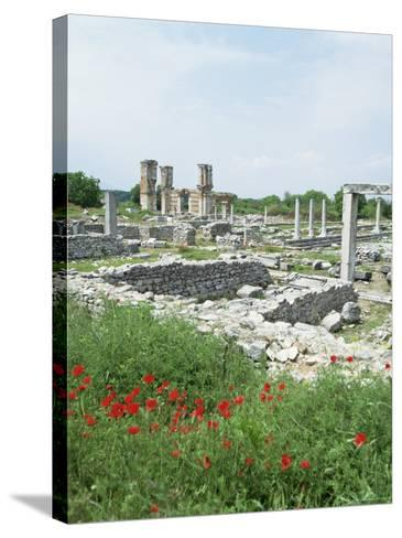Town Built for Octavia Over the Assassins of Julius Caesar in 42 Bc, Philippi (Filipi), Greece-Tony Gervis-Stretched Canvas Print