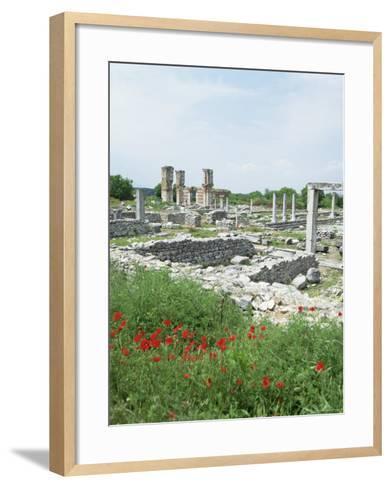 Town Built for Octavia Over the Assassins of Julius Caesar in 42 Bc, Philippi (Filipi), Greece-Tony Gervis-Framed Art Print