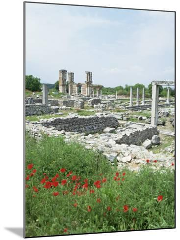 Town Built for Octavia Over the Assassins of Julius Caesar in 42 Bc, Philippi (Filipi), Greece-Tony Gervis-Mounted Photographic Print