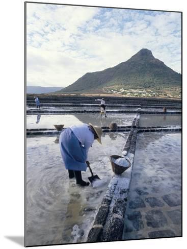 Salt Workers, Mauritius, Indian Ocean, Africa-Alain Evrard-Mounted Photographic Print