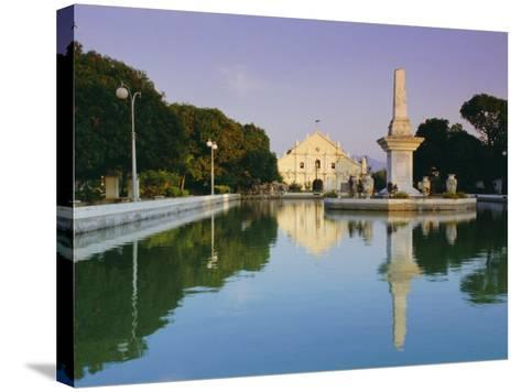 City Cathedral, Vigan, Ilocos Sar Province, Philippines, Southeast Asia-Alain Evrard-Stretched Canvas Print