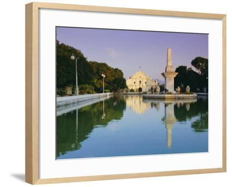 City Cathedral, Vigan, Ilocos Sar Province, Philippines, Southeast Asia-Alain Evrard-Framed Art Print