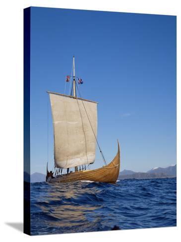 Gaia, Replica Viking Ship, Norway, Scandinavia-David Lomax-Stretched Canvas Print