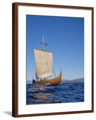 Gaia, Replica Viking Ship, Norway, Scandinavia-David Lomax-Framed Art Print