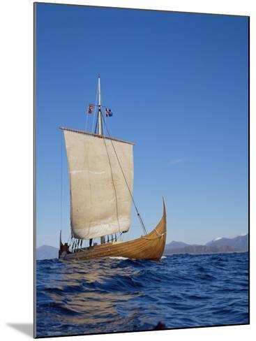 Gaia, Replica Viking Ship, Norway, Scandinavia-David Lomax-Mounted Photographic Print