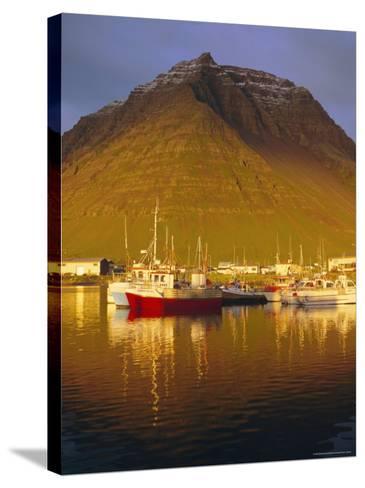 Bolungavik, North West Iceland-David Lomax-Stretched Canvas Print