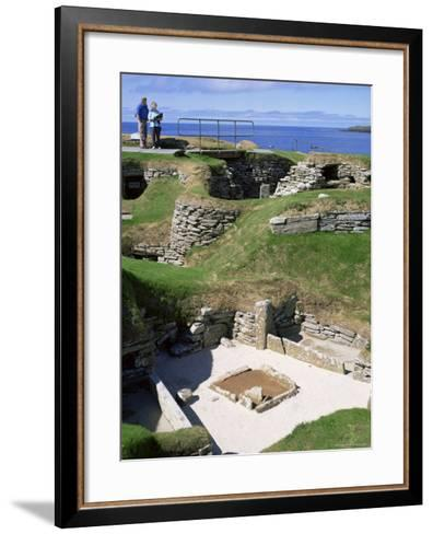 Skara Brae, Mainland, Orkneys, Scotland, United Kingdom-David Lomax-Framed Art Print