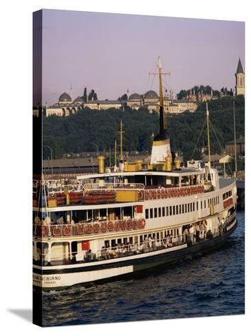 Bosphorus Ferry, Istanbul, Turkey, Eurasia-David Lomax-Stretched Canvas Print
