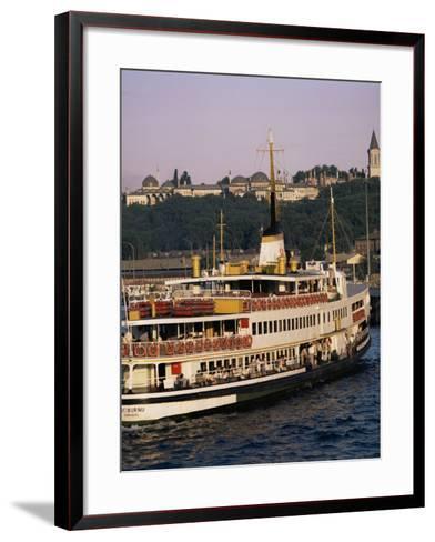 Bosphorus Ferry, Istanbul, Turkey, Eurasia-David Lomax-Framed Art Print