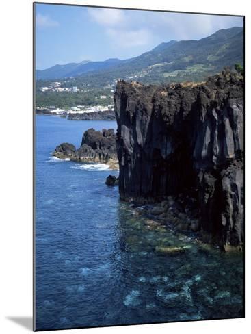 Volcanic Coastline, Island of Sao Jorge, Azores, Portugal, Atlantic-David Lomax-Mounted Photographic Print