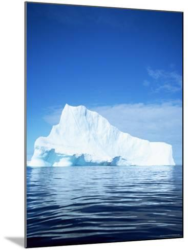 Iceberg off East Greenland, Polar Regions-David Lomax-Mounted Photographic Print