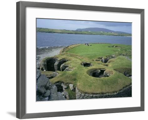 Jarlshof, Shetland, Scotland, United Kingdom-David Lomax-Framed Art Print
