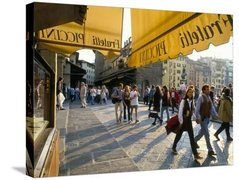 The Ponte Vecchio, Florence, Tuscany, Italy-Michael Newton-Stretched Canvas Print