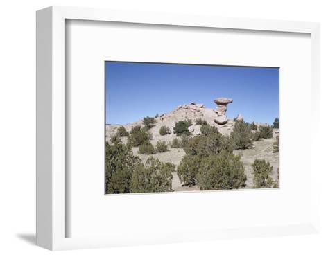 Camel Rock, Near Santa Fe, New Mexico, USA-Walter Rawlings-Framed Art Print