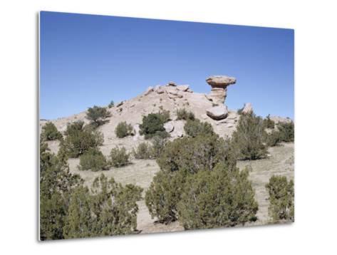 Camel Rock, Near Santa Fe, New Mexico, USA-Walter Rawlings-Metal Print