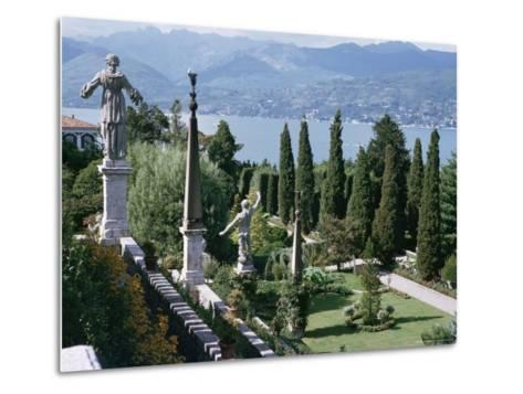 Isola Bella, Completed in 1670 for Count Borromeo, Lake Maggiore, Piedmont, Italy-Walter Rawlings-Metal Print