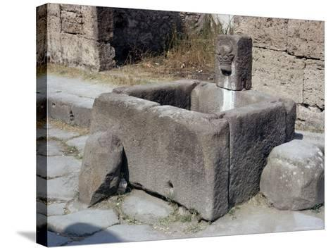 Water Trough, Pompeii, Campania, Italy-Walter Rawlings-Stretched Canvas Print