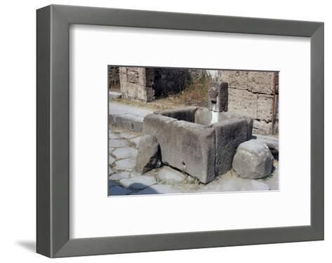 Water Trough, Pompeii, Campania, Italy-Walter Rawlings-Framed Art Print
