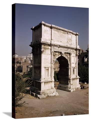 Arch of Titus, Commemorating Capture of Jerusalem in 70 AD, Rome, Lazio, Italy-Walter Rawlings-Stretched Canvas Print