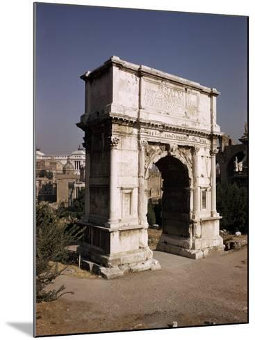 Arch of Titus, Commemorating Capture of Jerusalem in 70 AD, Rome, Lazio, Italy-Walter Rawlings-Mounted Photographic Print