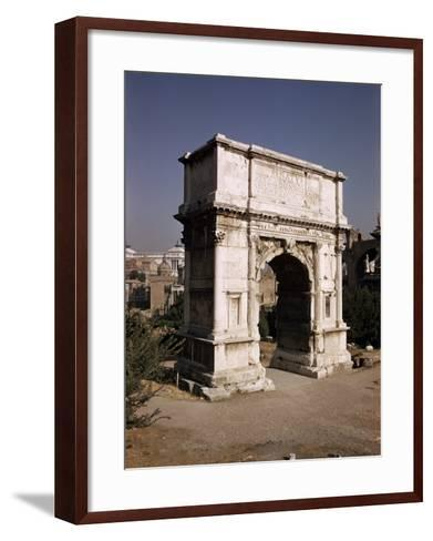 Arch of Titus, Commemorating Capture of Jerusalem in 70 AD, Rome, Lazio, Italy-Walter Rawlings-Framed Art Print