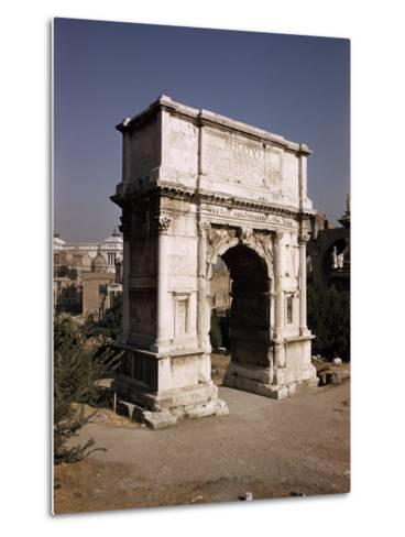 Arch of Titus, Commemorating Capture of Jerusalem in 70 AD, Rome, Lazio, Italy-Walter Rawlings-Metal Print