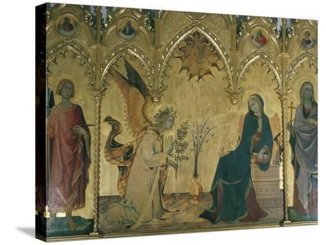 The Annunciation, Simone Martini, Uffizi, Florence, Tuscany, Italy-Walter Rawlings-Stretched Canvas Print