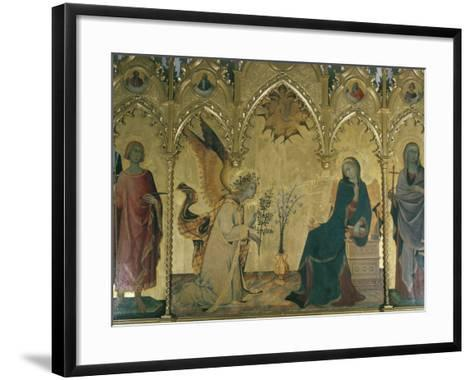 The Annunciation, Simone Martini, Uffizi, Florence, Tuscany, Italy-Walter Rawlings-Framed Art Print