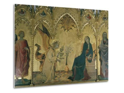 The Annunciation, Simone Martini, Uffizi, Florence, Tuscany, Italy-Walter Rawlings-Metal Print