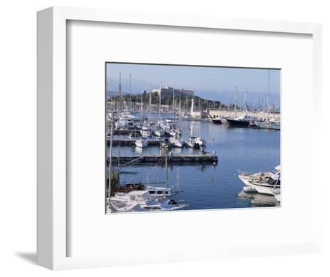 The Harbour and Fort Carre Where Napoleon was Imprisoned, Antibes, Alpes Maritimes, Cote d'Azur-Walter Rawlings-Framed Art Print