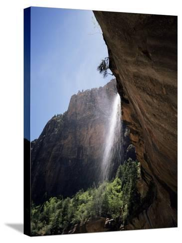 Emerald Pool Waterfall, Zion National Park, Utah, USA-Geoff Renner-Stretched Canvas Print