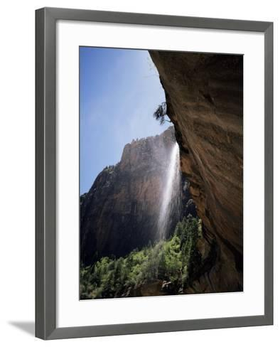 Emerald Pool Waterfall, Zion National Park, Utah, USA-Geoff Renner-Framed Art Print