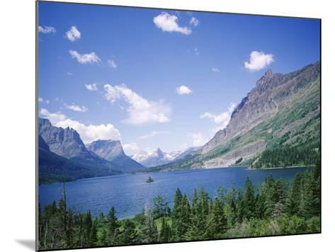 St. Mary Lake and Wild Goose Island, Glacier National Park, Rocky Mountains, USA-Geoff Renner-Mounted Photographic Print