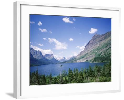 St. Mary Lake and Wild Goose Island, Glacier National Park, Rocky Mountains, USA-Geoff Renner-Framed Art Print