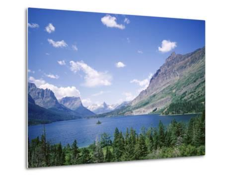 St. Mary Lake and Wild Goose Island, Glacier National Park, Rocky Mountains, USA-Geoff Renner-Metal Print