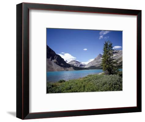 Bow Lake with Bow Glacier Behind, Icefields Parkway, Banff National Park, Alberta-Geoff Renner-Framed Art Print