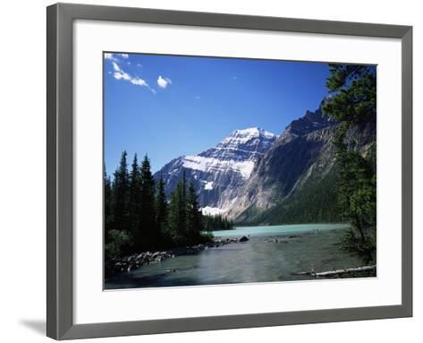 Mount Edith Cavell, Jasper National Park, Rocky Mountains, Alberta, Canada-Geoff Renner-Framed Art Print