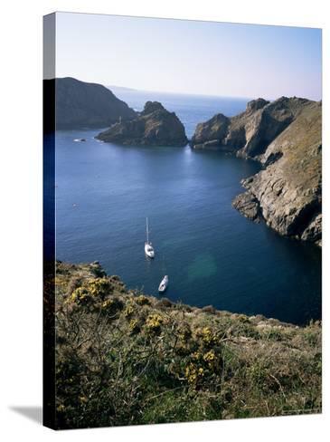 Havre Gosselin, Looking North to Gouliot Headland, West Coast, Sark, Channel Islands-Geoff Renner-Stretched Canvas Print