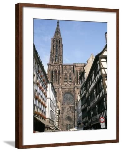 Gothic Christian Cathedral Dating from the 12th to 15th Centuries, Strasbourg, Alsace, France-Geoff Renner-Framed Art Print