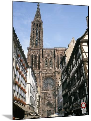 Gothic Christian Cathedral Dating from the 12th to 15th Centuries, Strasbourg, Alsace, France-Geoff Renner-Mounted Photographic Print